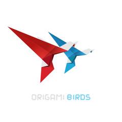 Origami birds vector illustration.