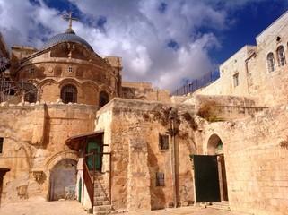 ethiopian orthodox courtyard in jerusalem