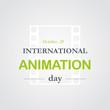 World animation day, October, 28