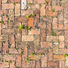 red brick floor background