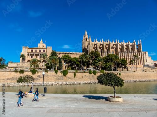 canvas print picture Spanien, Mallorca, Palma, Kathedrale
