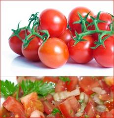 Tomaten und Tomatensalat