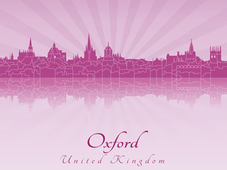 Oxford skyline in purple radiant orchid