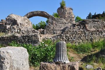 Kos island west ancient city ruins, Greece