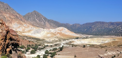 Active volcano of Nisyros, Greece