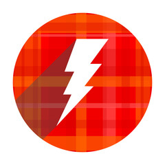 bolt red flat icon isolated