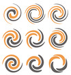 Set of spiral and swirls symbols and icons - 71847288