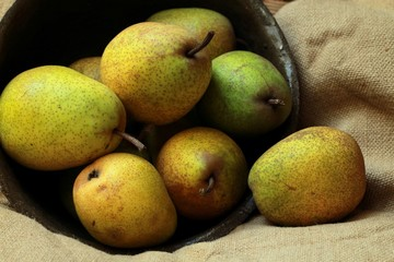 ripe, juicy pears