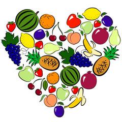 fruits heart