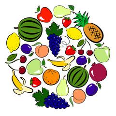 Fruits circle