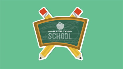 back to school chalkboard, Animation Design, HD 1080