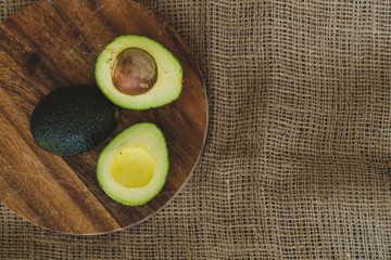 Avocado on the table