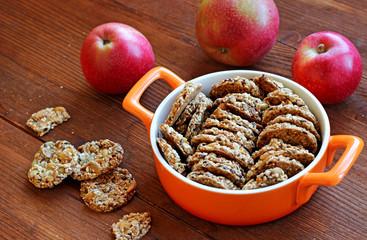 Sesame and peanuts healthy cookies