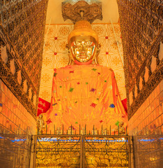 Buddha at pagoda, Inle lake in Shan state, Myanmar