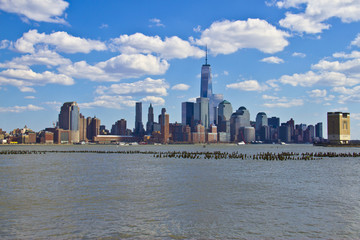 beautiful view of lower Manhattan from Jersey City