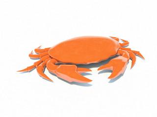 3d orange crab