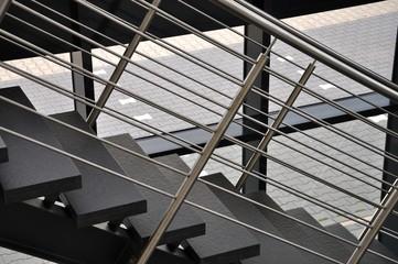 Treppe mit Edelstahlgeländer
