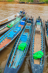Passenger boat at Inle lake in Shan state, Myanmar