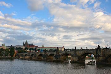 Charles bridge in Czech capitol Prague