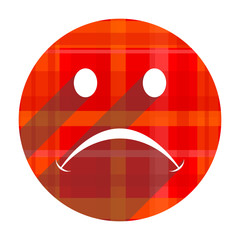 cry red flat icon isolated