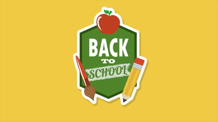 Back to school, Animation Design, HD 1080