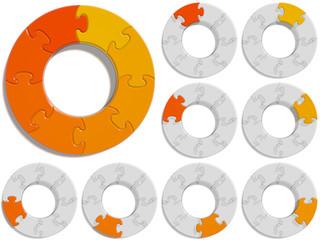 Circle Puzzle 08 - Orange