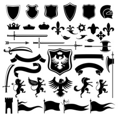 Heraldic set black