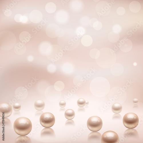 Luxury pearls background - 71849656