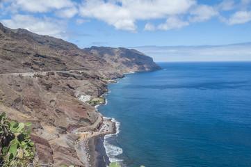 A view of Gaviotas Beach  in Tenerife, Canary Islands, Spain
