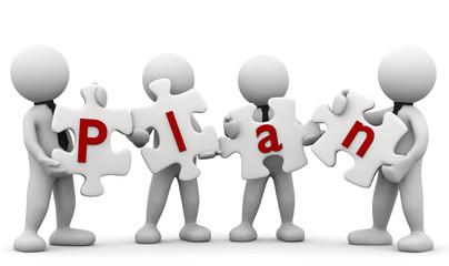 omini bianchi con puzzle Plan