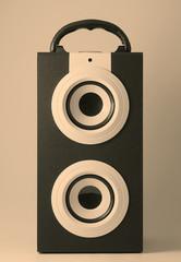 Portable music loudspeaker retro style