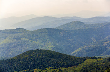 View of Vosges mountains in Alsace - France