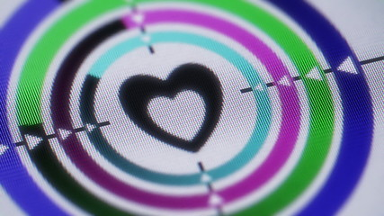 Heart shape on the screen. Looping.