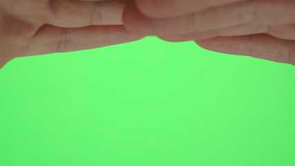 Hands Shading Eyes Greenscreen
