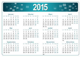 Calendrier 2015 simple - facilement éditable