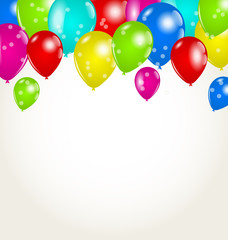 Holiday background with multicolor balloons
