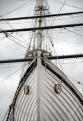 Detail of Tall Ship Bow or Stern