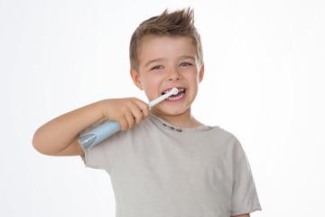 happy child on white background