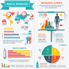 Medical info graphics design on white background,clean vector