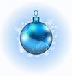 Christmas blue ball with sparkle