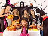 Halloween party with children.