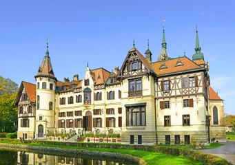 Fabulous castle Lesna, Zlin, Czech republic