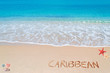 canvas print picture - caribbean writing