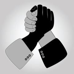 Handshake blue shaking hands