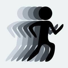 Running Vector Illustration EPS10