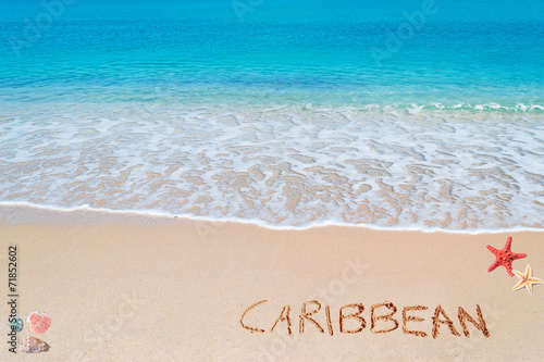 canvas print picture caribbean writing