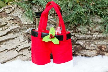 Weihnachtshose für Flaschen
