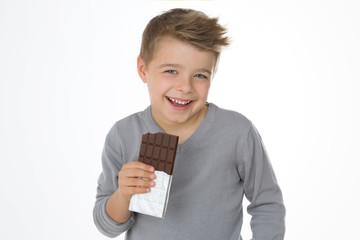 child enjoying his favourite sweet
