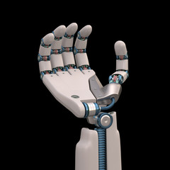 Holding Robot. Clipping path included.