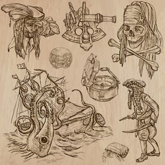 pirates (no.7) - an hand drawn vector pack